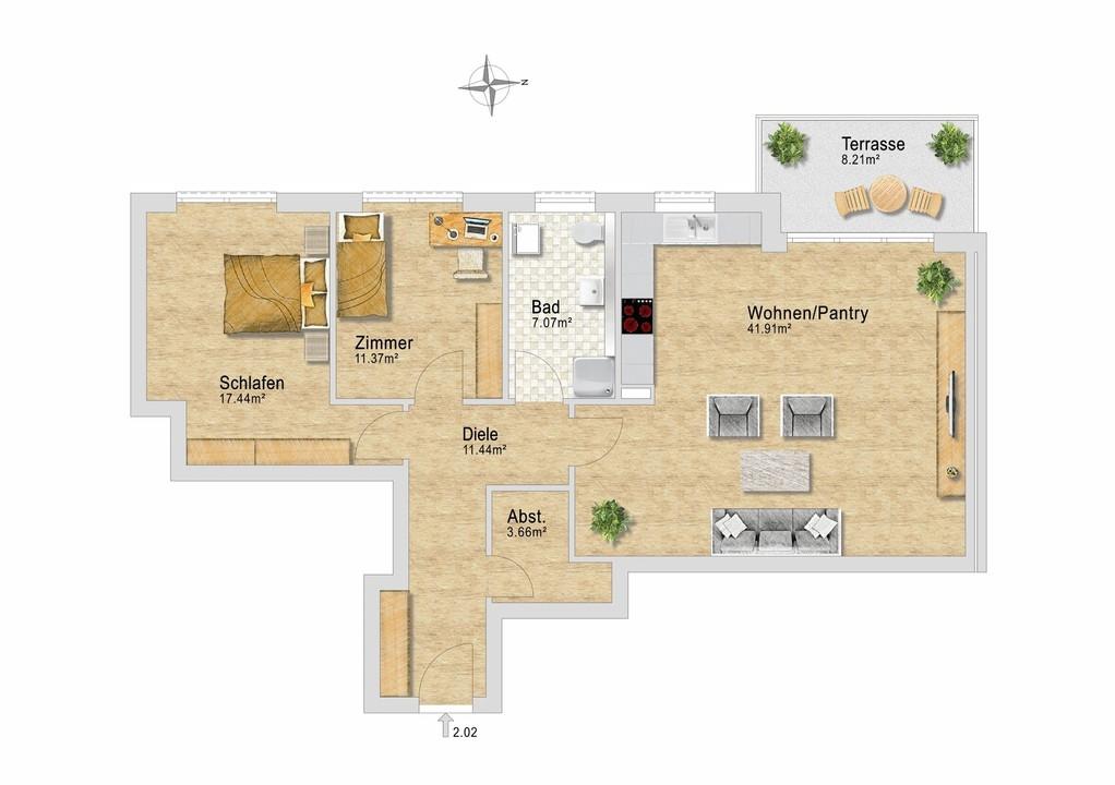 Wohnung 22 im EG