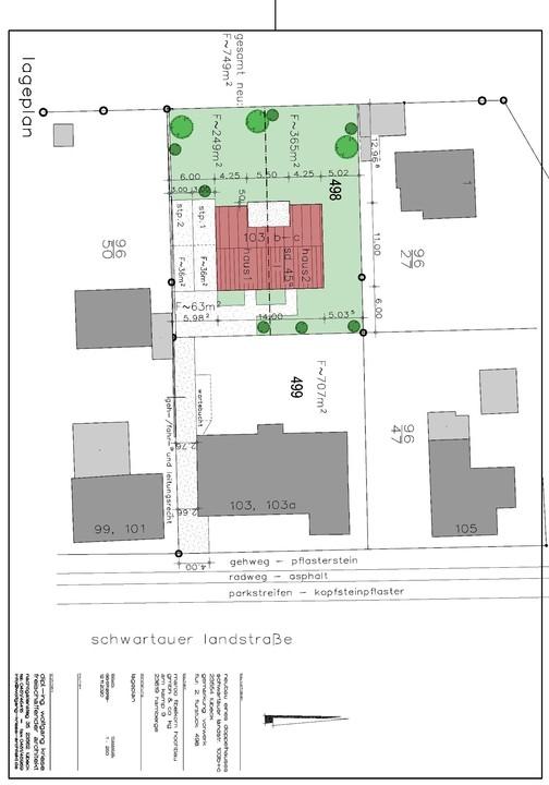 Lageplan / Grundstücksanteile