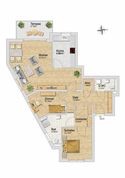 Wohnung 21 im EG.