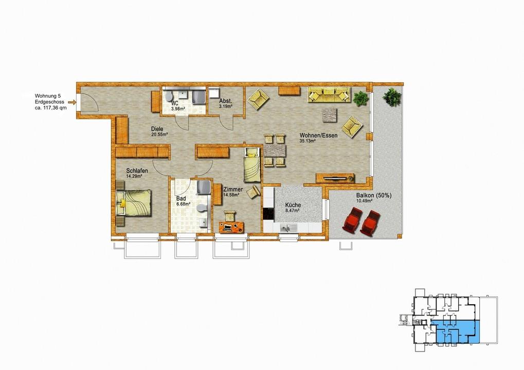 Erdgeschoss Whg. Nr. 4