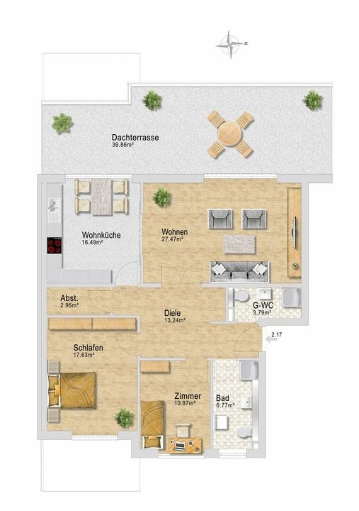 Wohnung 37, Staffelgeschoß