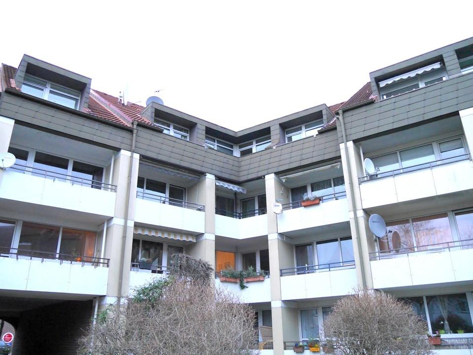 Ansicht der Balkone