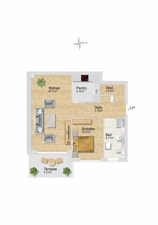 Wohnung 24 im EG.