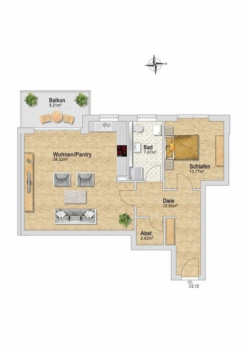 Wohnung 14 im OG.