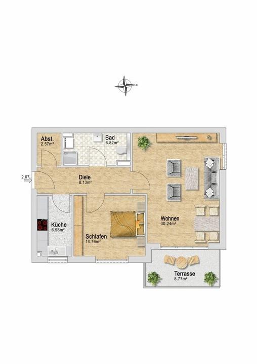 Wohnung 27 mit Terrasse