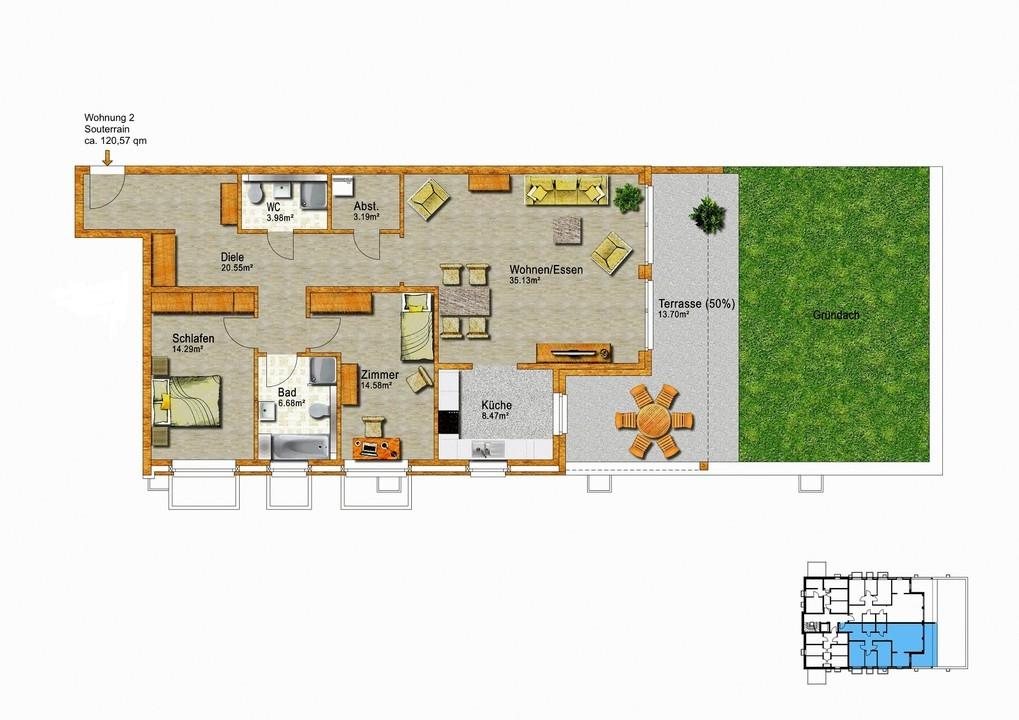 Wohnung 2 Souterrain