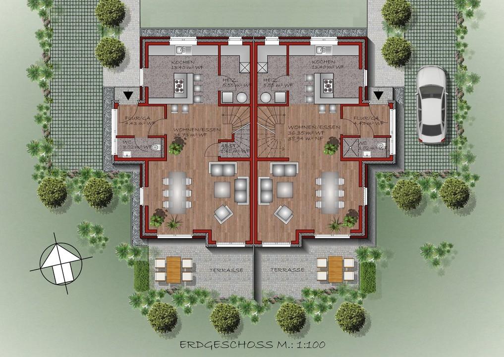 geplantes Erdgeschoss
