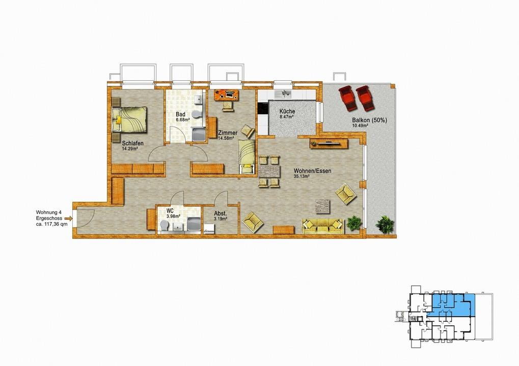 Wohnung 4  Erdgeschoss