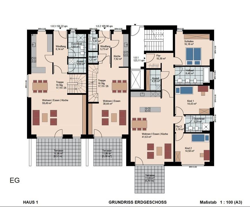 Grundriss Haus 1 EG