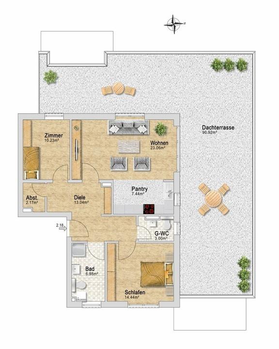 Wohnung 38, Staffelgeschoß